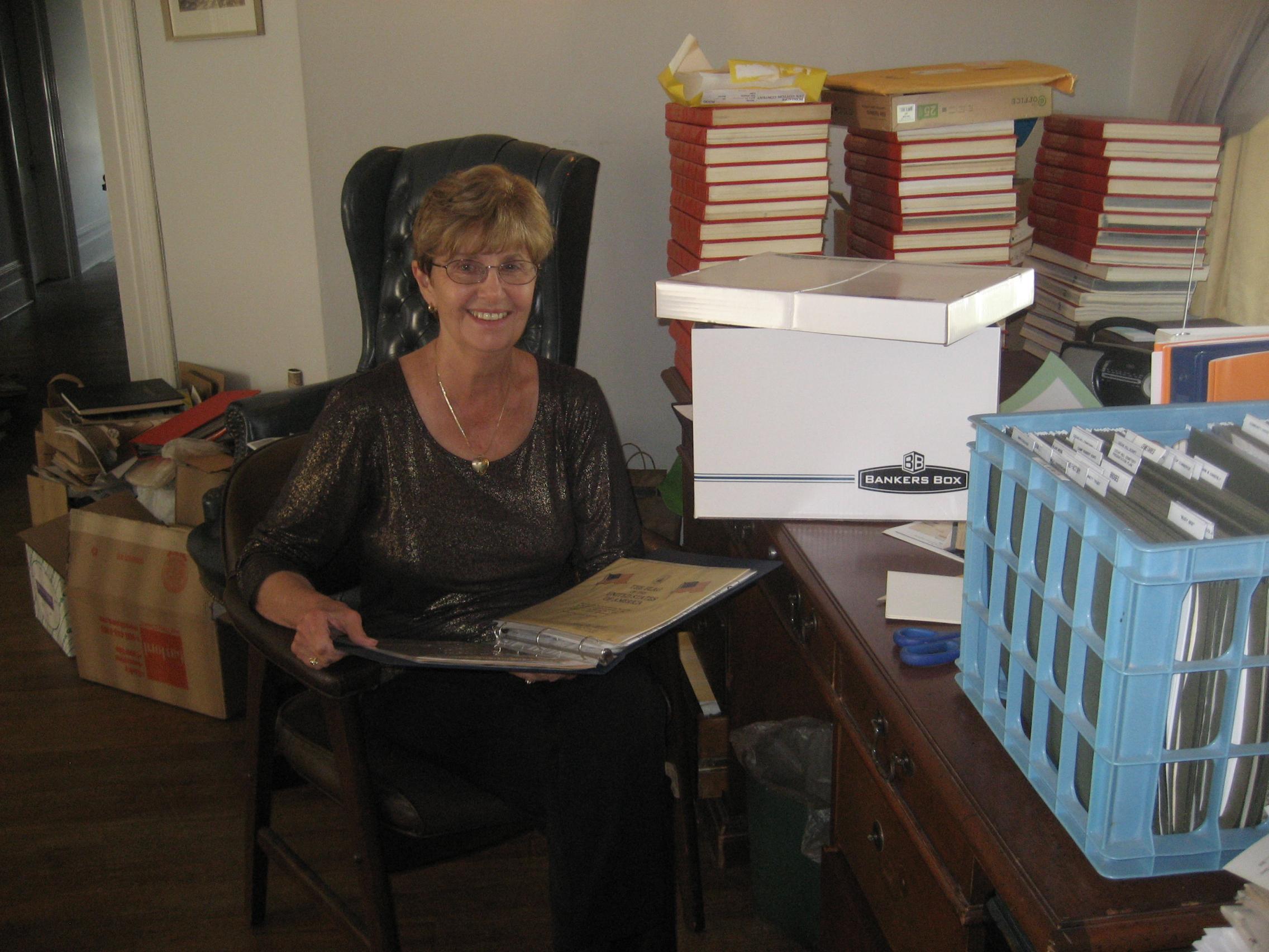 Lynn Barlow Organizes our Archives