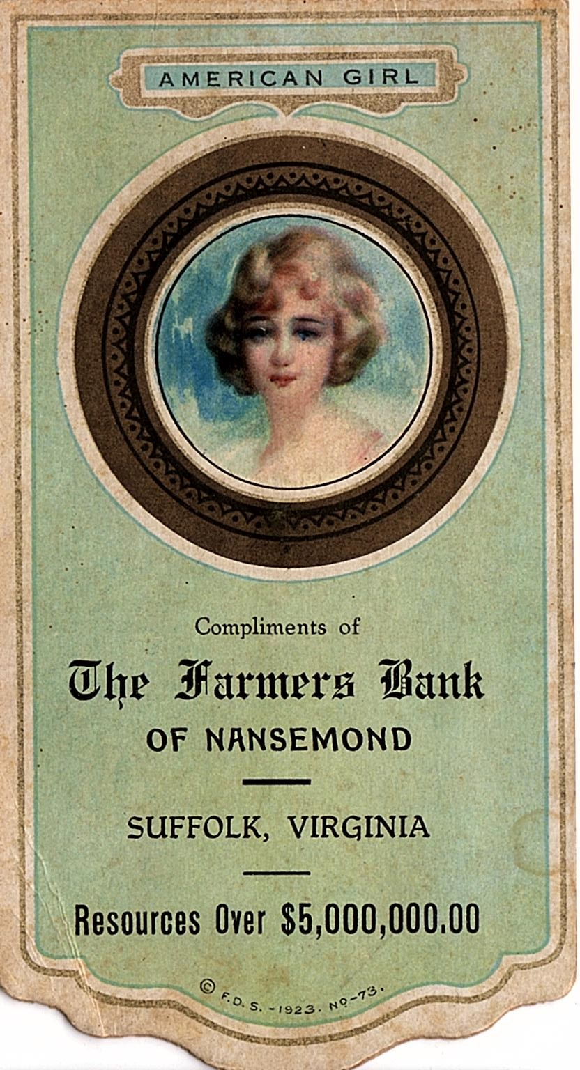 Farmer's Bank of Nansemond, American Girl
