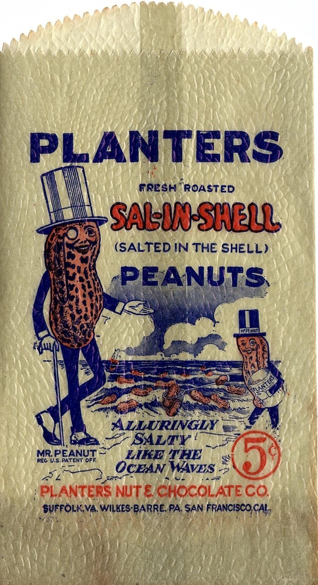 Planters Peanuts Bag